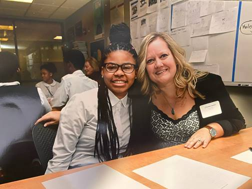 Christine Santos - Mentoring Program at Cornerstone Schools in Detroit.