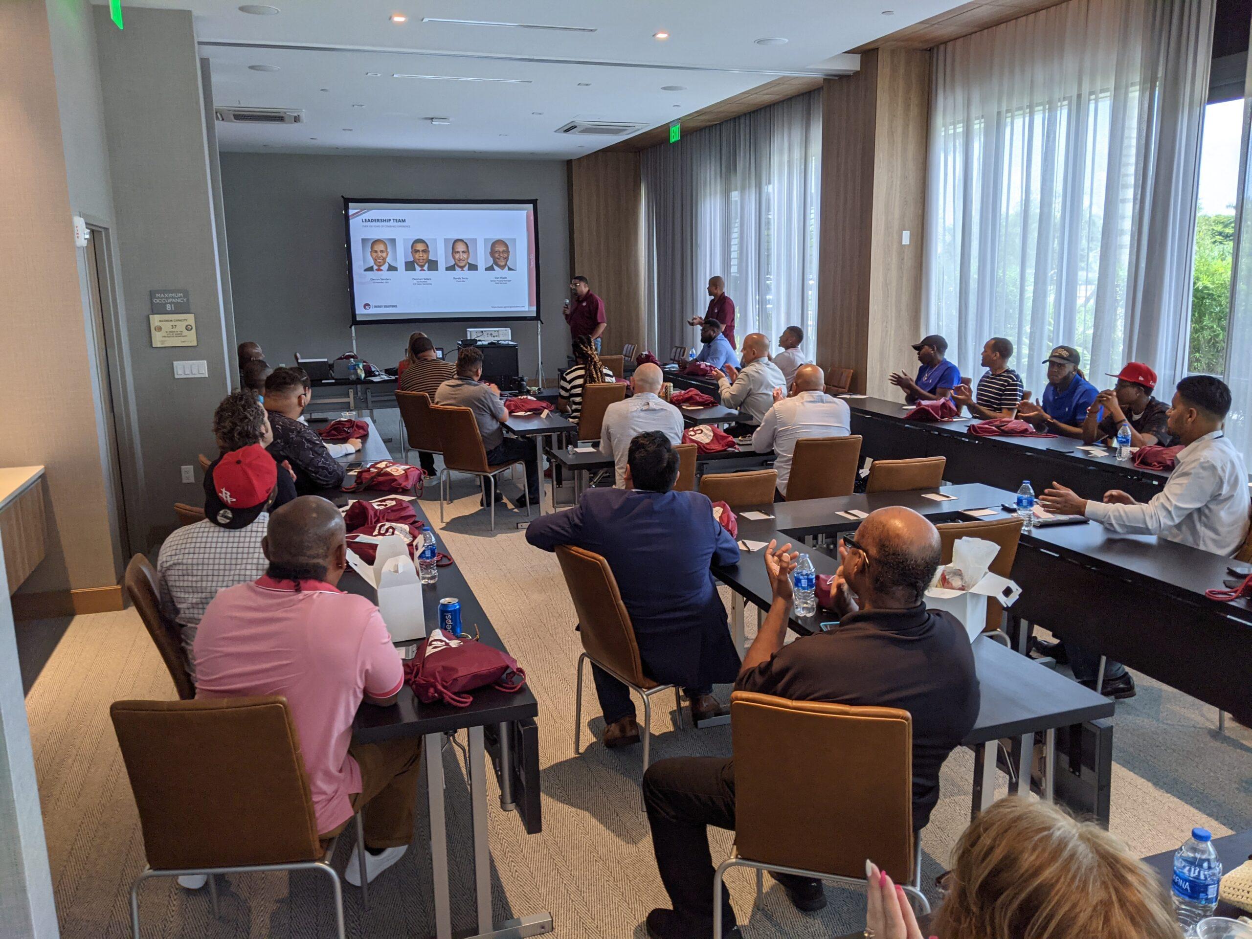 Training session presentation